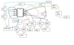 line amplifier schematic and switches